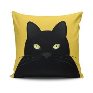 Polštář s příměsí bavlny Cushion Love Cat, 45 x 45 cm