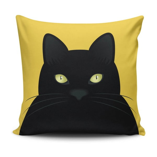 Cushion Love Cat pamutkeverék díszpárna, 45 x 45 cm