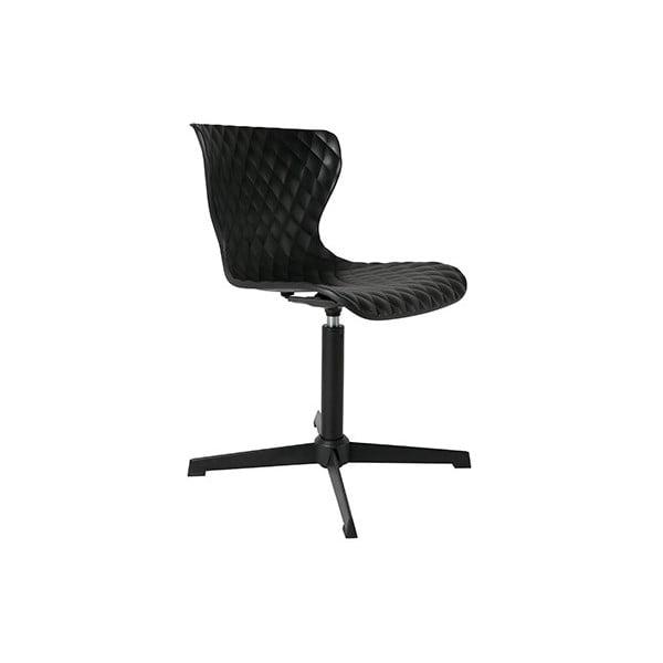 Černá židle Crow Metal