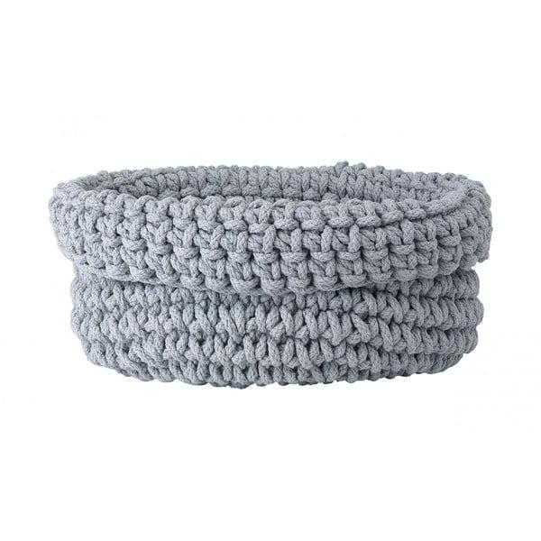 Sivý pletený bavlnený košík Blomus, ø 38 cm