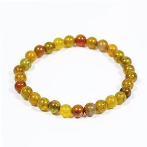 Žlutý náramek z přírodních minerálů s achátem Yogaly Honey Agate