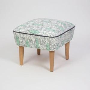 Taburet s dřevěnými nohami Damo Pluma, 45x45cm