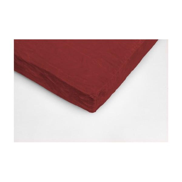 Vínovočervená mikroplyšová prikrývka na jednolôžko My House, 90 × 200 cm
