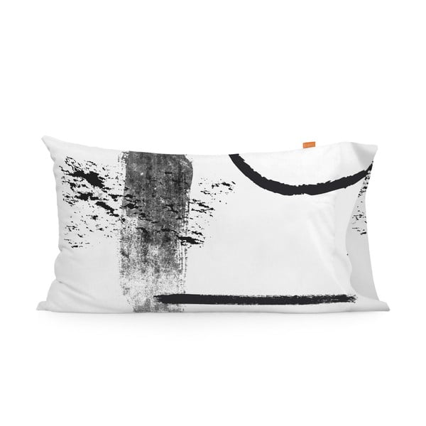 Sada 2 bavlnených obliečok na vankúš Blanc Shapes, 50 × 75 cm