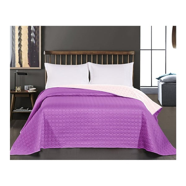 Salice Purple lila kétoldalas mikroszálas ágytakaró, 240 x 260 cm - DecoKing