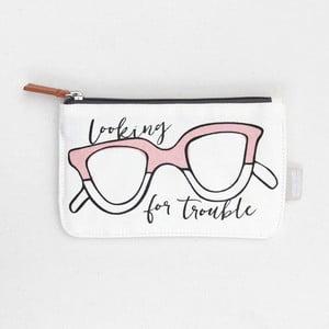 Bílá taštička Caroline Gardner Glasses