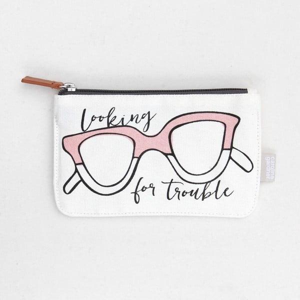 Biela taštička Caroline Gardner Glasses
