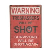 Dekorativní cedule Warning!