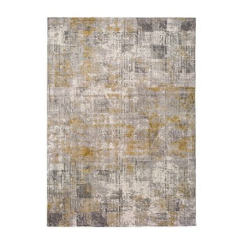 Covor Universal Kerati Mustard, 80 x 150 cm, gri imagine