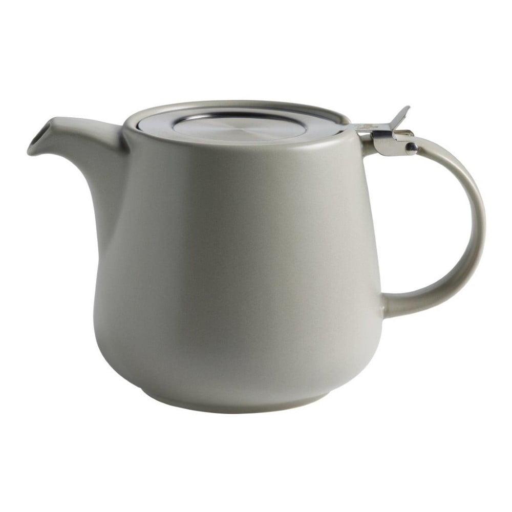 Šedá keramická konvice se sítkem na sypaný čaj Maxwell & Williams Tint, 1,2 l