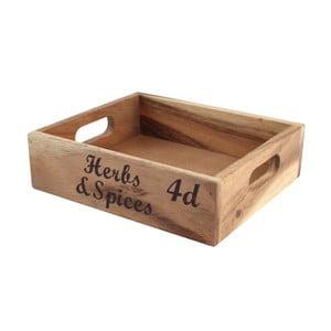 Lădiță din lemn T&G Woodware Baroque Herbs & Spice