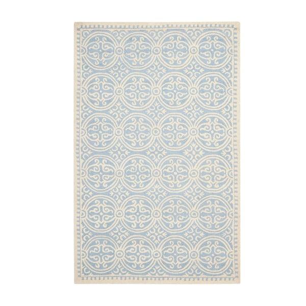 Vlněný koberec Marina Blue, 152x243 cm