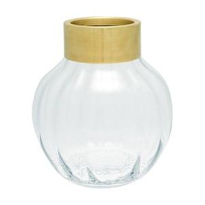 Vază din sticlă Green Gate, înălțime 19 cm