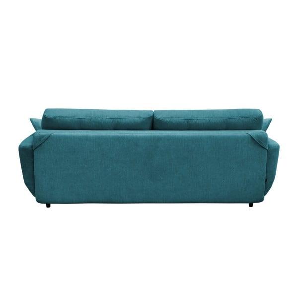 Canapea extensibilă cu 3 locuri Mazzini Sofas Jasmin, turcoaz