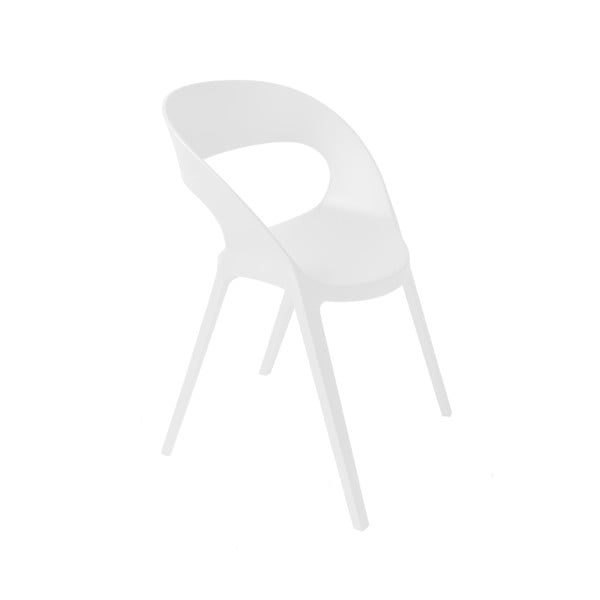 Sada 2 bílých zahradních židlí Resol Carla