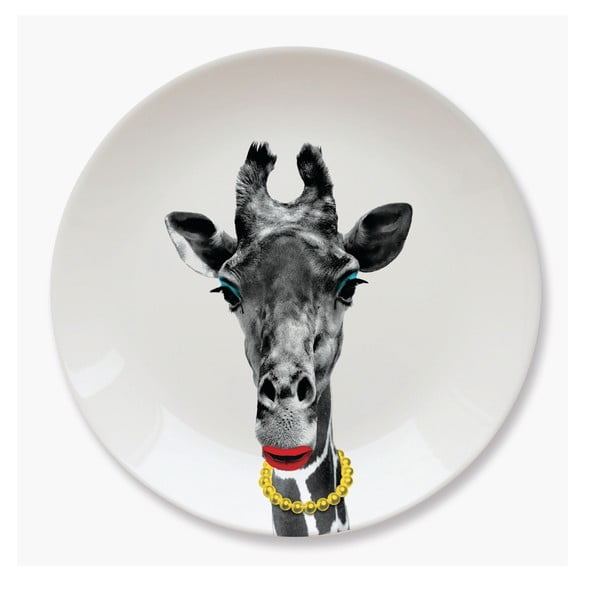 Talerz ceramiczny Just Mustard Giraffe