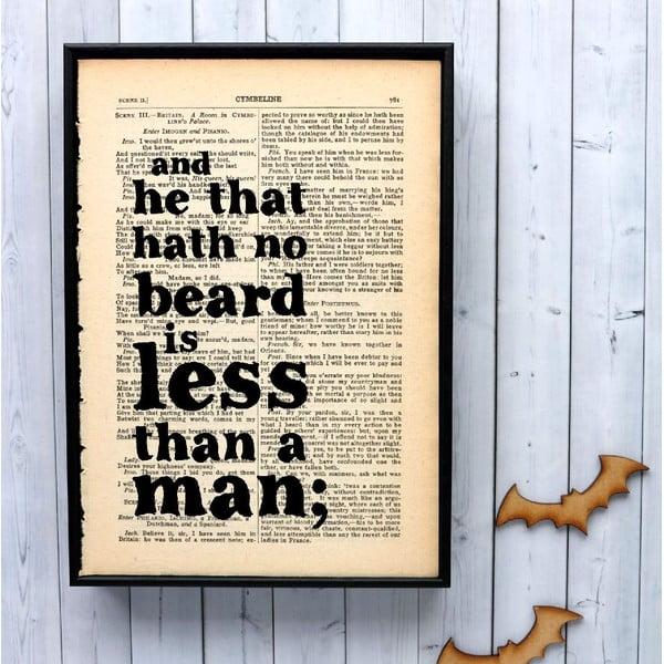 Plakát v dřevěném rámu Shakespeare Beard