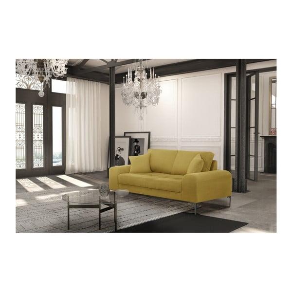 Set canapea galbenă, 2 scaune gri, o saltea 140 x 200 cm Home Essentials