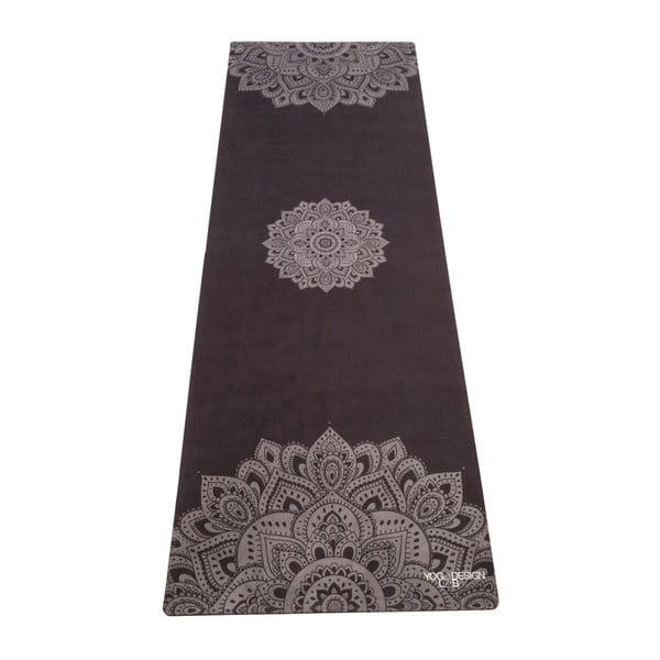 Černá podložka na jógu Yoga Design Lab Mandala, 1,8 kg