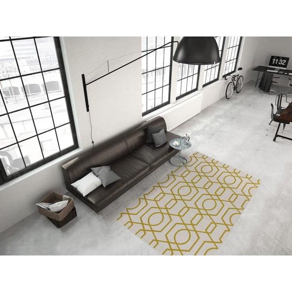 Žluto-šedý koberec Kayoom Stella 400 Yellow, 120x170cm