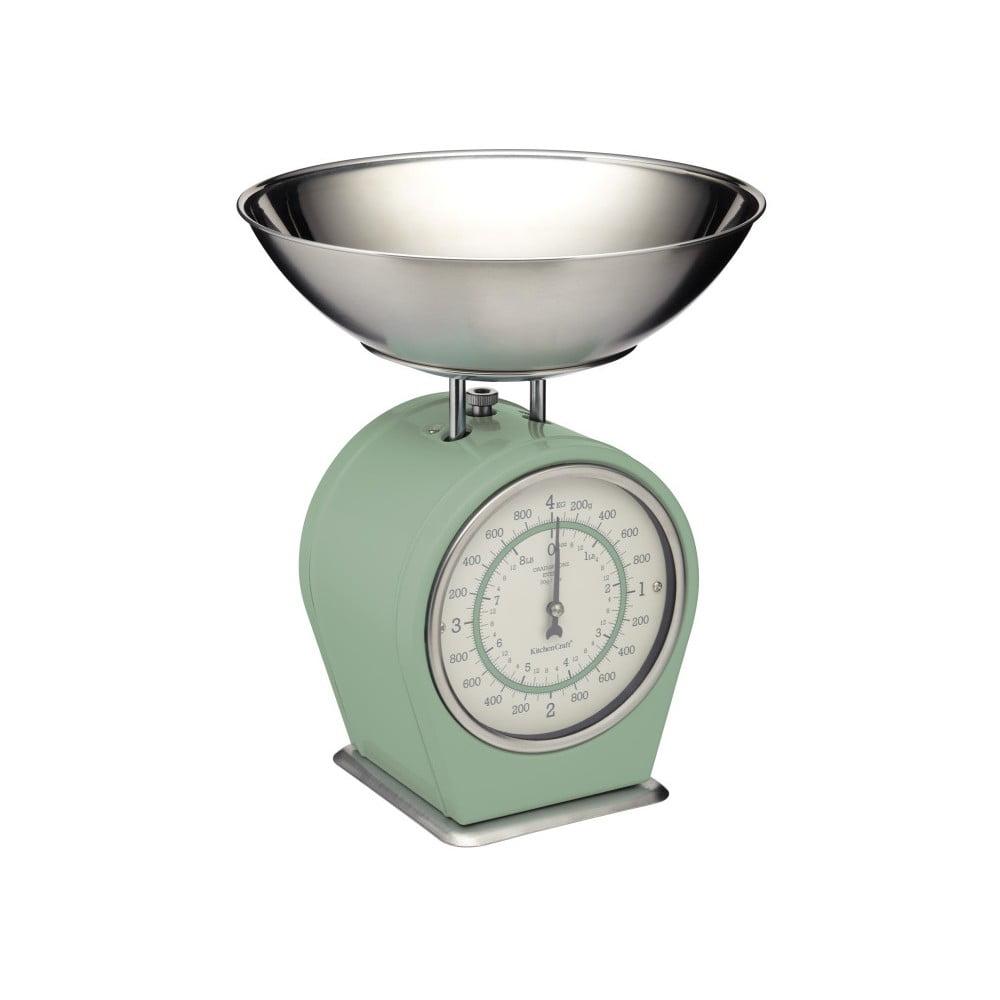 Zelená kuchyňská váha Kitchen Craft Living Nostalgia, 4kg