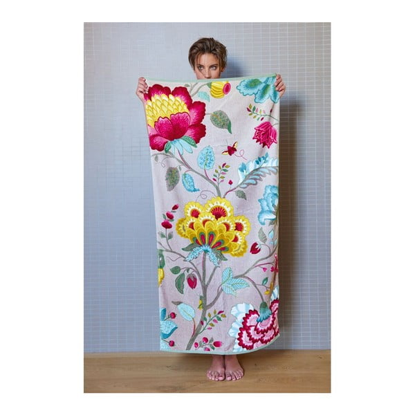 Ručník Floral Fantasy khaki, 55x100 cm