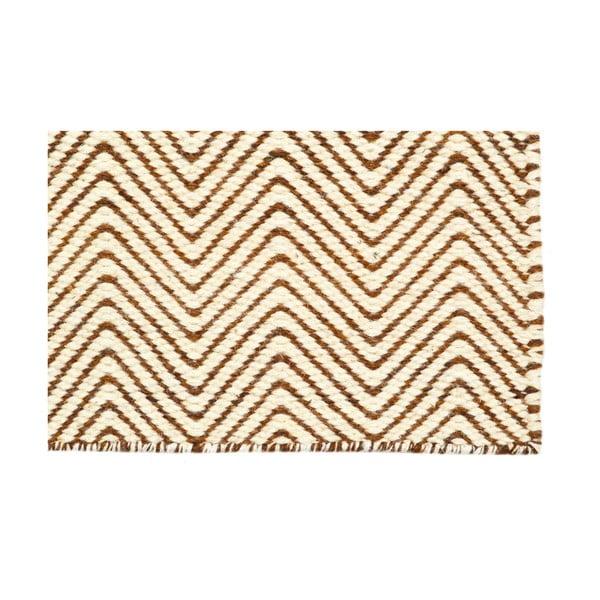 Ručně tkaný koberec Chocolate Brown Kilim, 155x217 cm