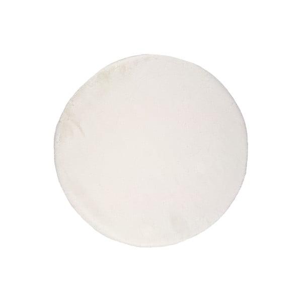 Bílý koberec Universal Fox Liso, Ø 120 cm