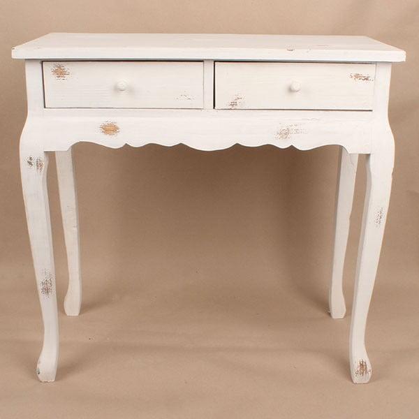 Dřevěný stůl White Days, 72x71 cm