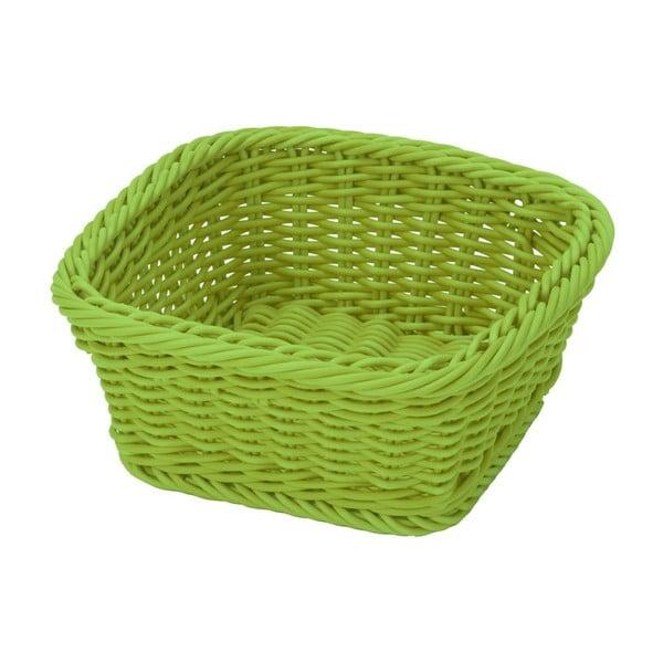 Košík Korb Quadra Lime, 19x19x7,5 cm