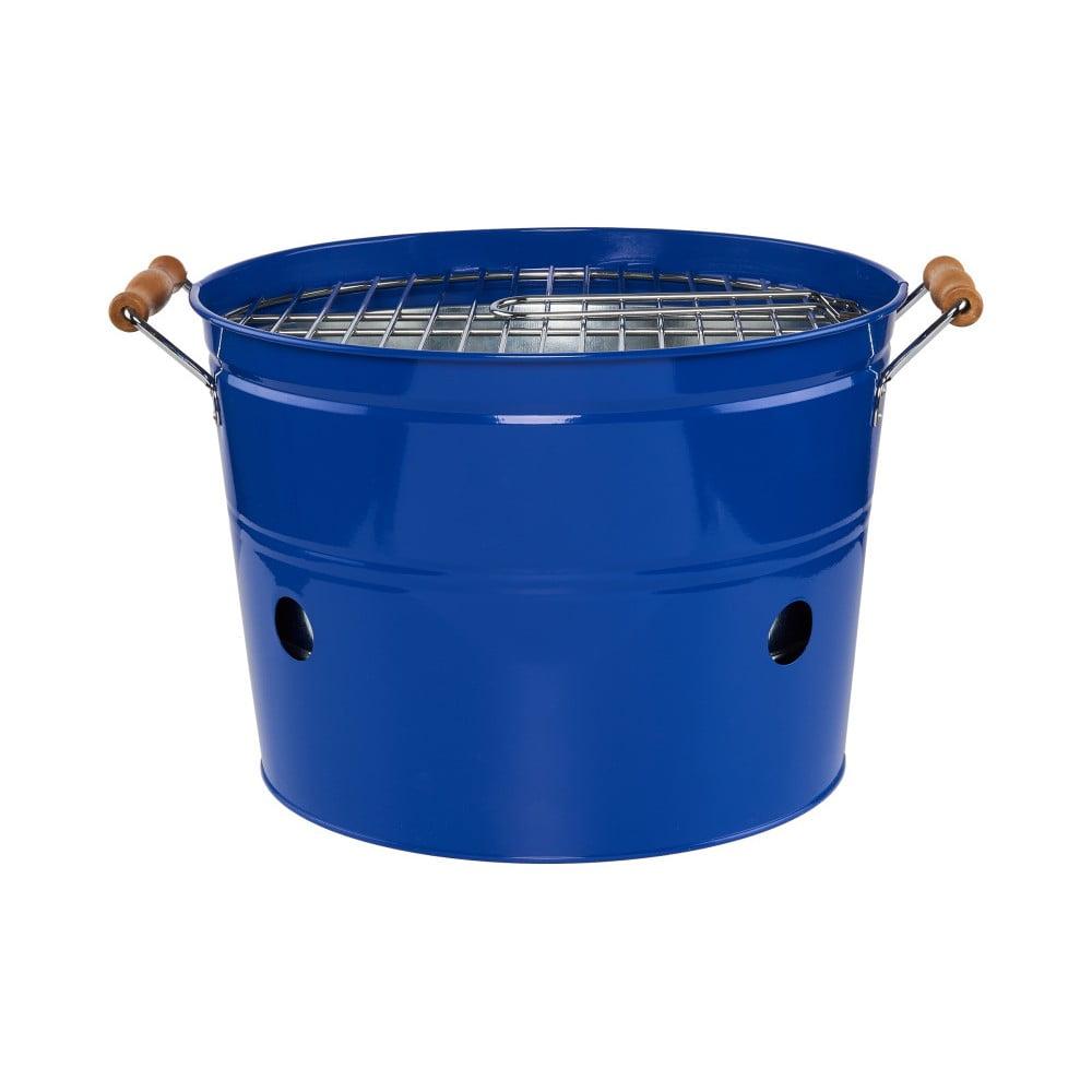 Modrý přenosný gril Butlers