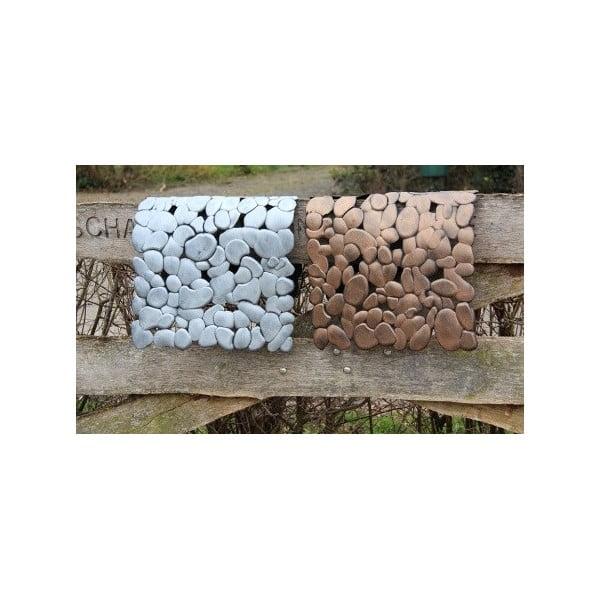 Gumová rohožka Mars&More Silver Stones, 75x45 cm