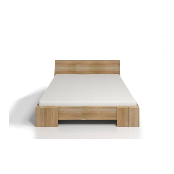 Pat dublu din lemn de fag, cu spațiu de depozitare, SKANDICA Vestre Maxi, 140 x 200 cm