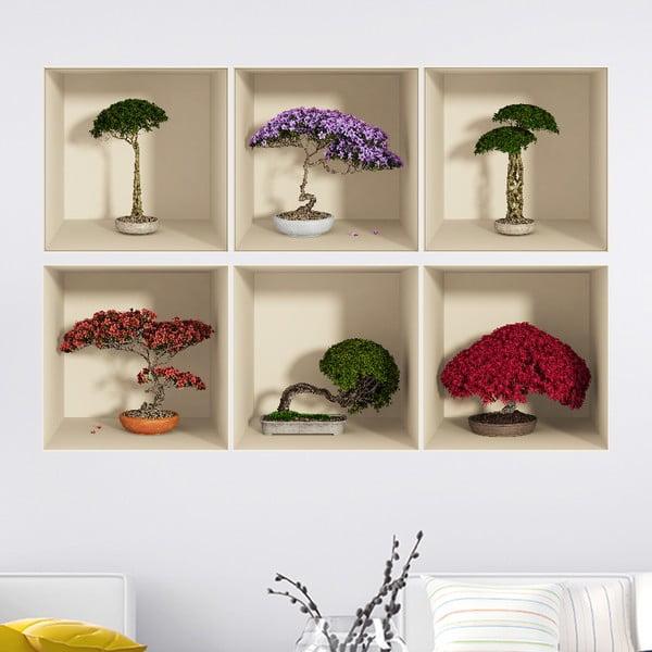 Set 6 autocolante de perete cu efect 3D Fanastick Home