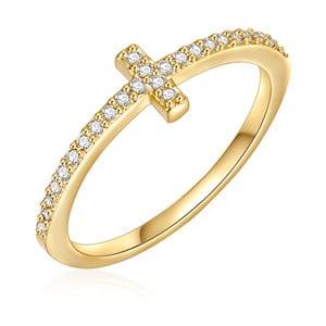 Dámský prsten zlaté barvy Runway Cross, 54
