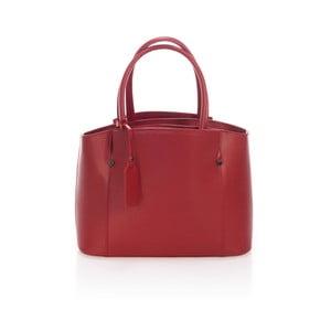 Vínově červená kožená kabelka Lisa Minardi Halona