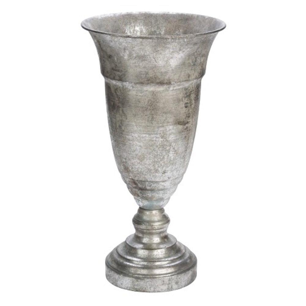 Dekorativní pohár ve stříbrné barvě Ego Dekor, výška43,5cm