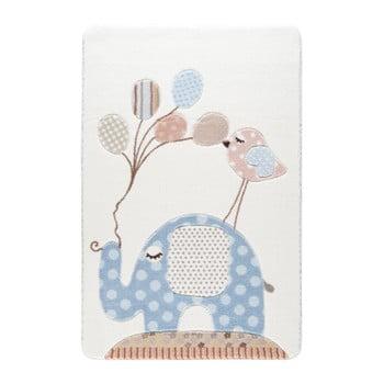 Covor pentru copii Confetti Spotty Elephant, 100 x 150 cm, albastru deschis de la Confetti