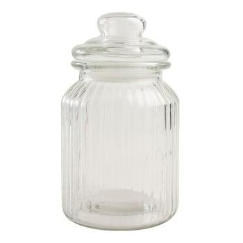 Recipient clasic din sticlă T&G Woodware Ribbed, 1 l imagine