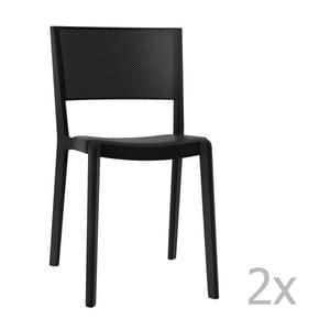 Sada 2 černých zahradních židlí Resol Spot