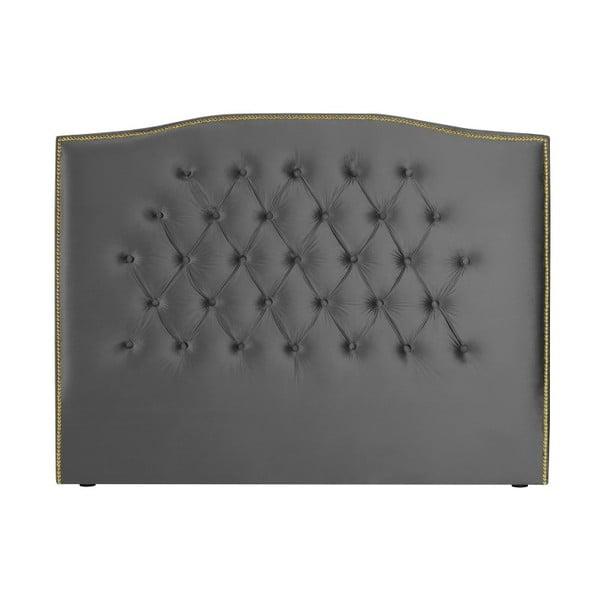 Stříbrnoš-šedé čelo postele Mazzini Sofas Anette, 140 x 120 cm