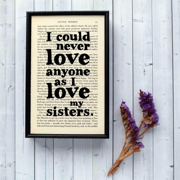 Plakát v dřevěném rámu Little Women Sisters