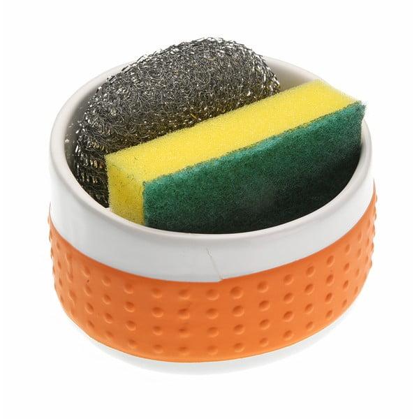 Oranžový držák na mycí pomůcky Versa Orange Support