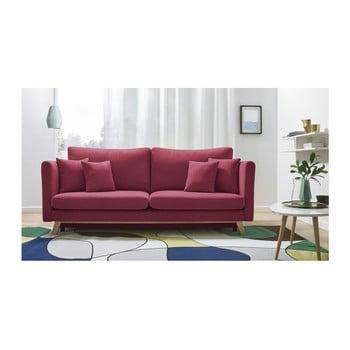 Canapea extensibilă cu 3 locuri Bobochic Paris Triplo, roșu de la Bobochic Paris