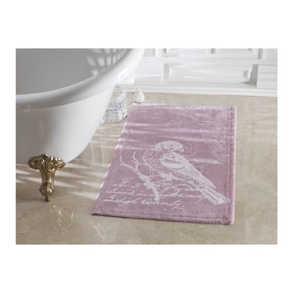 Fialová koupelnová předložka ze 100% bavlny Cuckoo, 70 x 120 cm