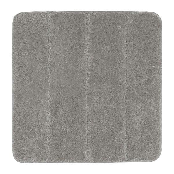 Světle šedá koupelnová předložka Wenko Steps, 55x65cm