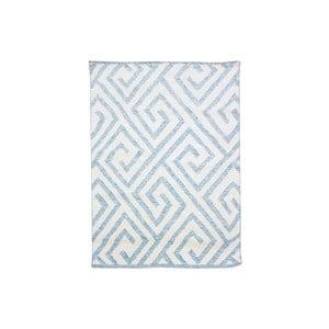 Vlněný koberec Flat no. 69, 100x150 cm. světle modrý