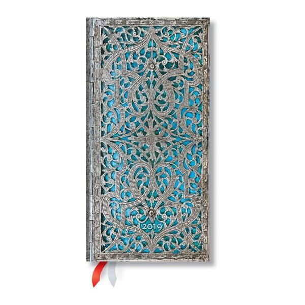 Blue Rhine 2019-es határidőnapló, 9,5 x 18 cm - Paperblanks