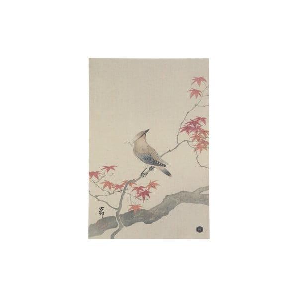 Plakát z ručně vyráběného papíru BePureHome Waxwing, 47x32cm