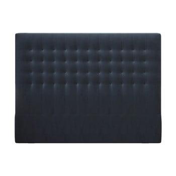 Tăblie pentru pat cu tapițerie de catifea Windsor & Co Sofas Apollo, 180x120cm, albastru închis imagine